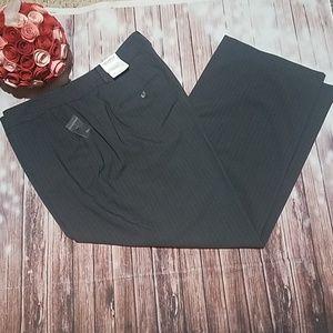 Liz Claiborne gray striped dress pants sz 22 short